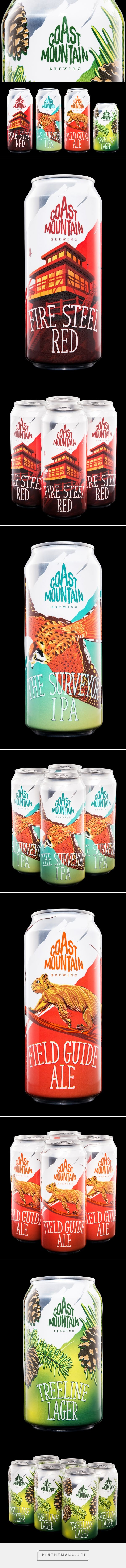 Coast Mountain Brewing - Packaging of the World - Creative Package Design Gallery - http://www.packagingoftheworld.com/2016/12/coast-mountain-brewing.html