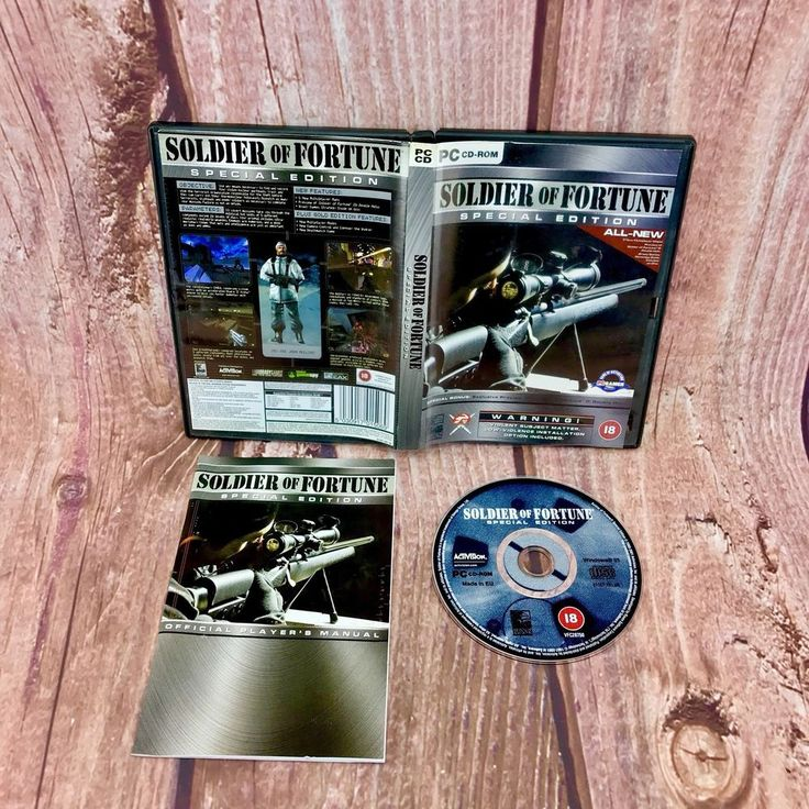 Soldier of Fortune Special Edition PC CD ROM Video Game Activision Shooter 18+
