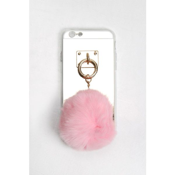 Rare Pink Pom Pom IPhone 6 Phone Case (£6) ❤ liked on Polyvore featuring accessories, tech accessories and rare london