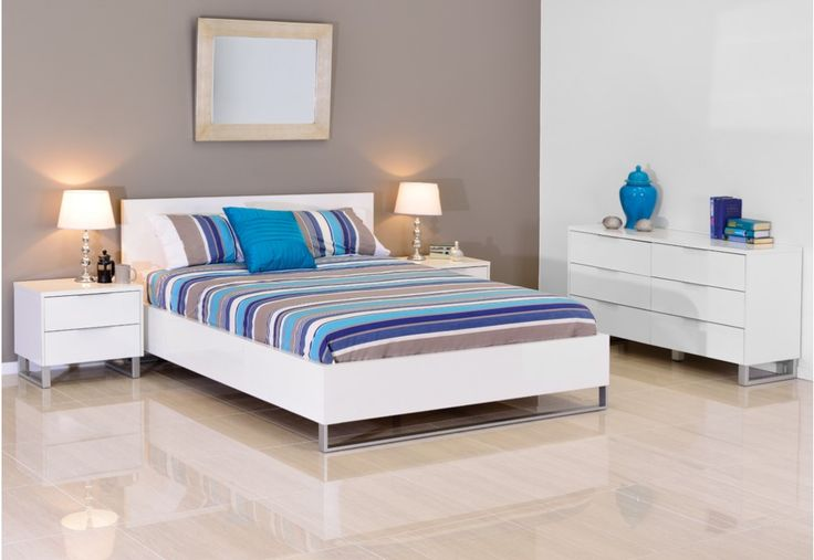 Ice 4 Piece Dresser King Bedroom Suite | Super A-Mart