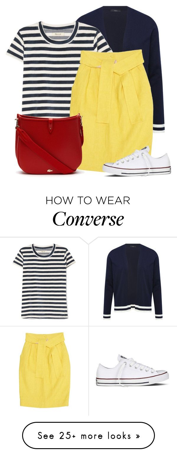 """""""Yellow Skirt"""" by oxigenio on Polyvore featuring M&Co, Madewell, Fendi, Lacoste and Converse"""