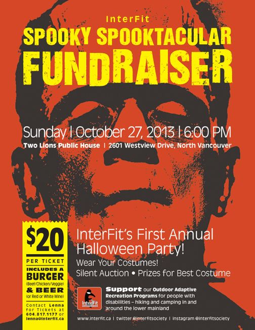 halloween fundraising event poster for interfit fundraising fundraisingposter create your online fundraising campaign - Halloween Fundraiser Ideas