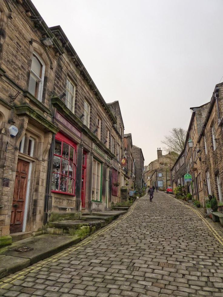 Main Street, Haworth Yorkshire. I like to imagine the Bronte sisters walking up this street, which I'm sure they did, many times.