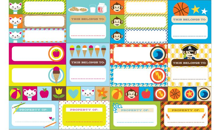 Etiquetas editables para marcar libros de HP u2039 Descargables Gratis para Imprimir Paper toys