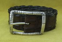 Hand Stitched Crocodile HB Belt by Created in Eden