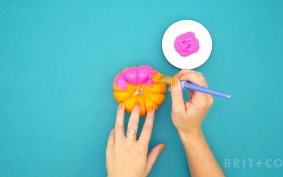 How to Make DIY Painted Pumpkins