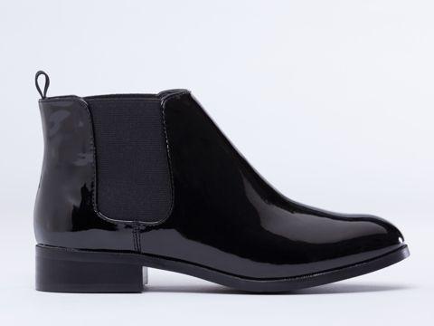 Marais USA Beatle Boot in Black Patent at Solestruck.com