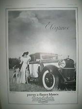 PUBLICITE DE PRESSE GOODRICH PNEU A FLANC BLANC ELEGANCE LEVRIERS FRENCH AD 1934