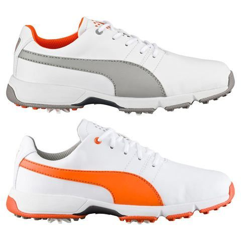 Puma Golf Titantour Cleated Junior Golf Shoes.. These on-course kicks come in 3 stylish colors which is on par with the Puma and Rickie Fowler vibe.