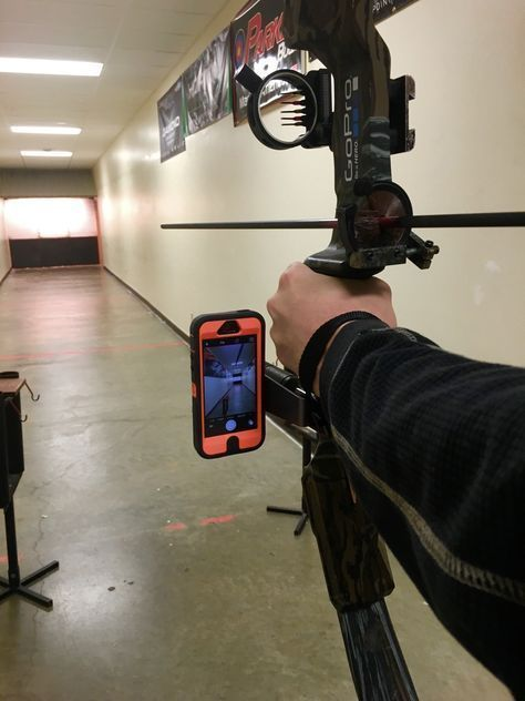 Use your smartphone / cell phone camera to capture your hunt on video camera, hands free. Video record your own bow #hunting while staying ready for the shot. Bow stabilizer mounted cell phone video ca #DeerHunting
