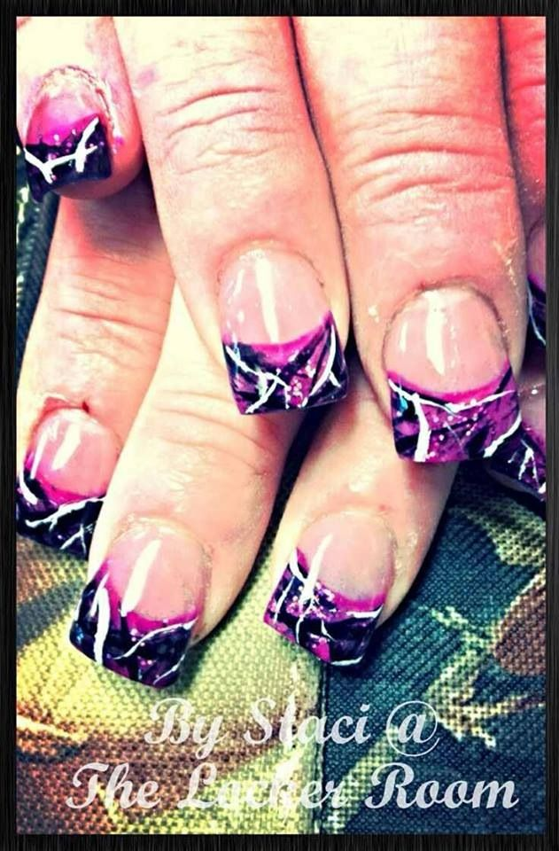 Muddy girl camo nails
