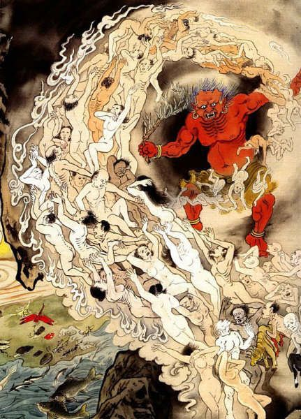Buddhist Hell Paintings 4 by gwenboul, via Flickr