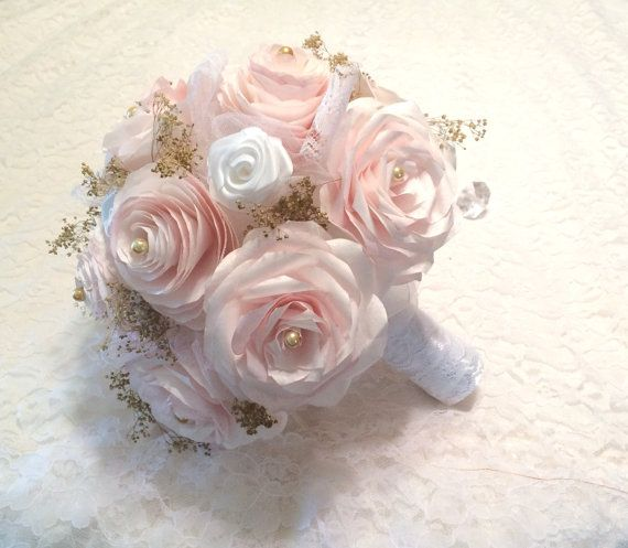 Blush paper bouquets 3 sizes available Alternative by CENTERTWINE