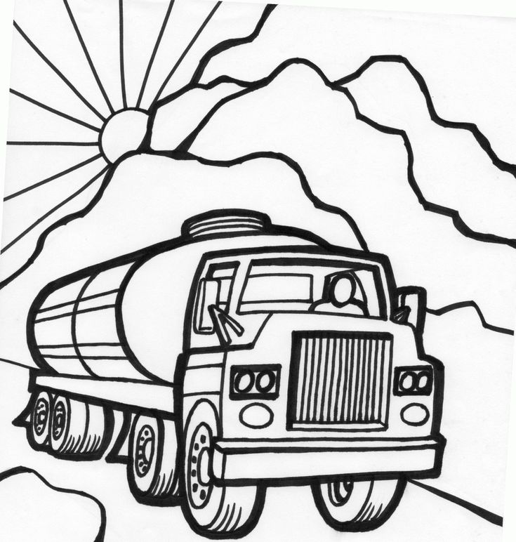 tanker truck coloring page fast car coloring page monster truck color pages pinterest cars. Black Bedroom Furniture Sets. Home Design Ideas