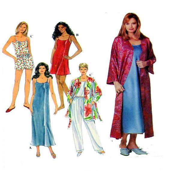 Simplicity 8666 Women Sleepwear Negligee Lingerie Long