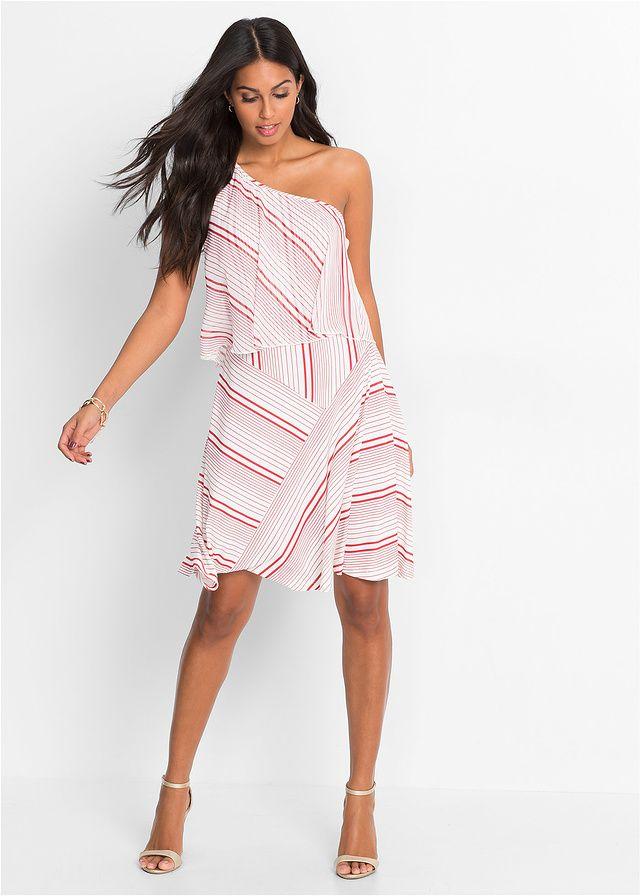 Sukienka na jedno ramię Letnia sukienka • 129.99 zł • bonprix