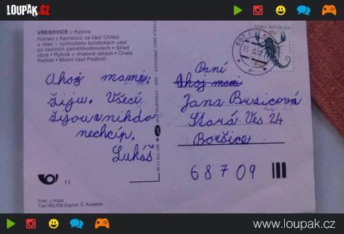 Pohled od syna | Loupak.cz