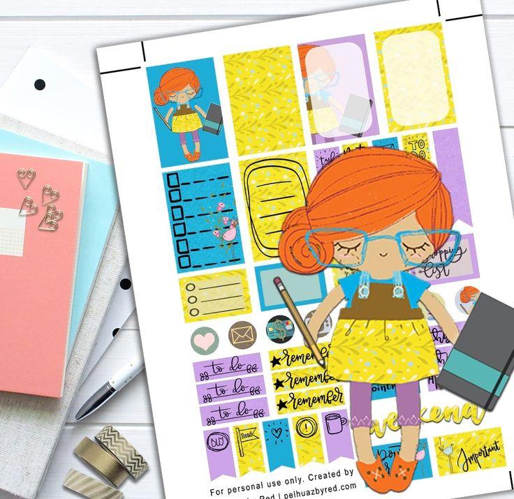 Girl Planner Theme Planner Weekly Sticker Kit | Blue Theme, create, Day Designer, entrepreneur, entrepreneurs, erin condren, Functional stickers, Girl Planner, Girl Theme, Girl with glasses, Happy Planner, Happy Planner Stickers, Life Planner, planner addict, Planner Girl, Planner Sticker Set, Planner Sticker Set Image, Planner Stickers, Planner Weekly Sticker Kit, summer, Themed Weekly Sticker Kit, wahm, Weekly Planner Sticker Set, yellow theme