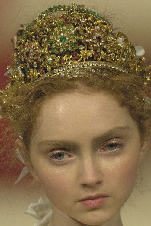 Lily Cole at Christian Lacroix Haute Couture Spring 2006