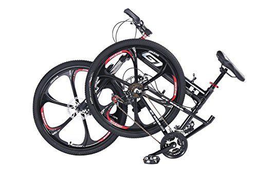 MTB Folding Mountain Bike 26″ 24 Speed Premium Aluminium Alloy Frame Bicycle Lightweight & Portable for Unisex (Black) http://coolbike.us/product/mtb-folding-mountain-bike-26%e2%80%b3-24-speed-premium-aluminium-alloy-frame-bicycle-lightweight-portable-for-unisex-black/