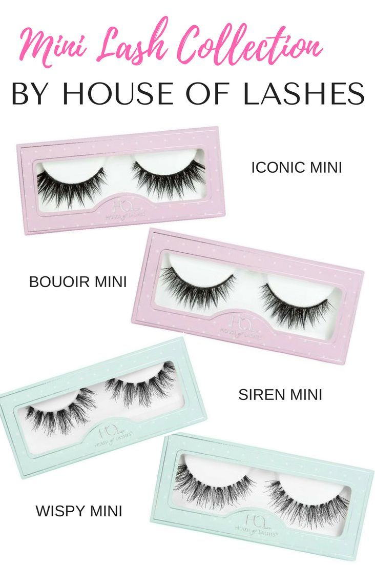 An overview of the House of Lashes Mini Lash Collection