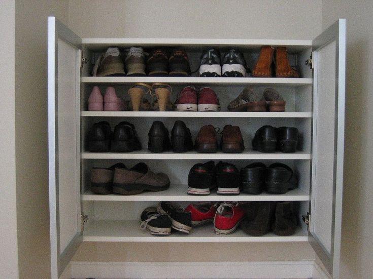 emilyu0027s gorgeous shoe storage ikea hackers