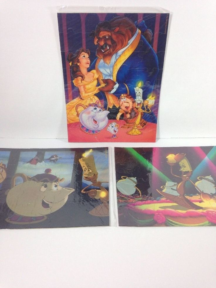 Beauty and the Beast Puzzle Set of