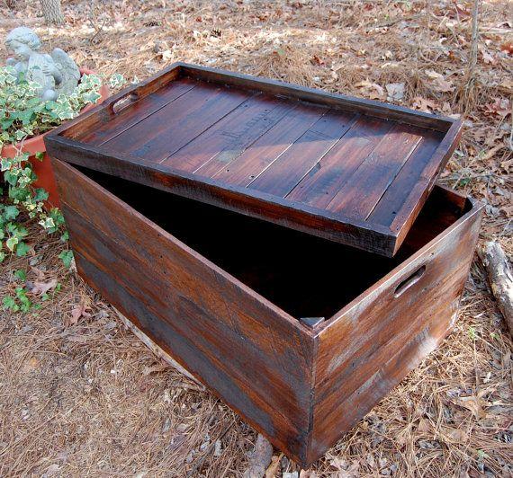 25 beste ideen over Wooden crate coffee table op Pinterest