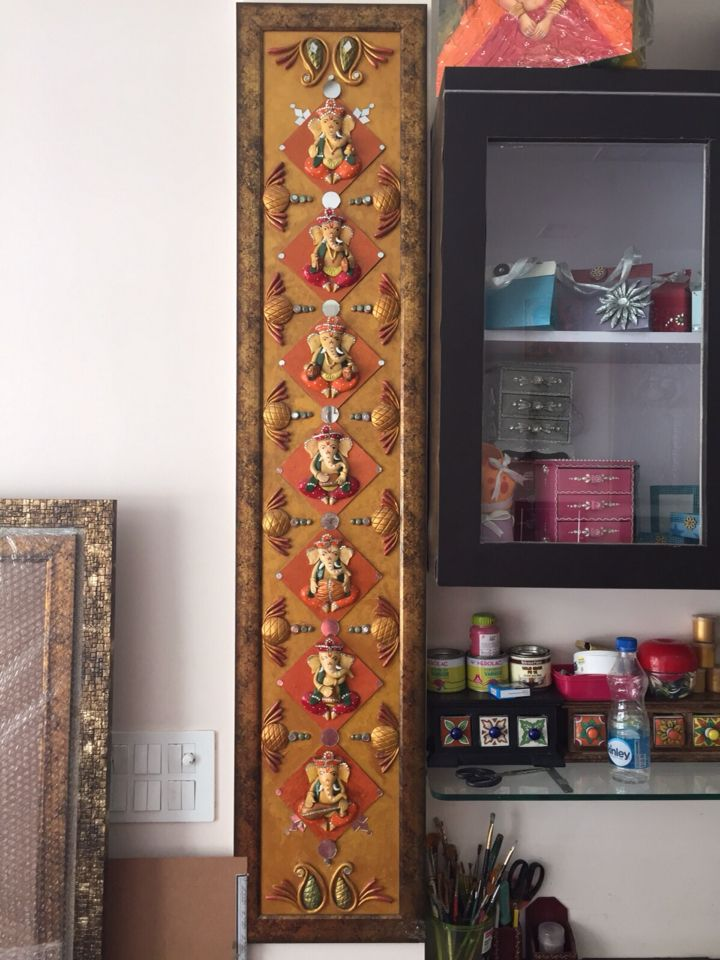beautifully idea key holders for wall. Ganesha the musician with all instruments  Great piece of art Beautifully handcrafted wall mural on 43 best Hand crafted Creative Veranda images Pinterest Key