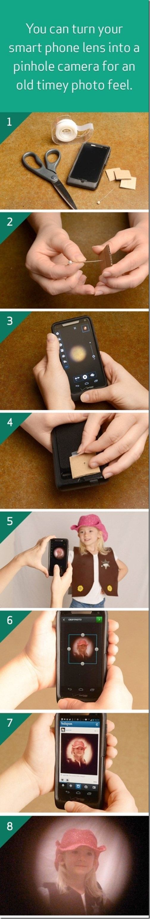 Easy project to turn your smartphone into a pinhole camera for old timey photographs look #VZBuzz @RobynsOnlineWorld.com