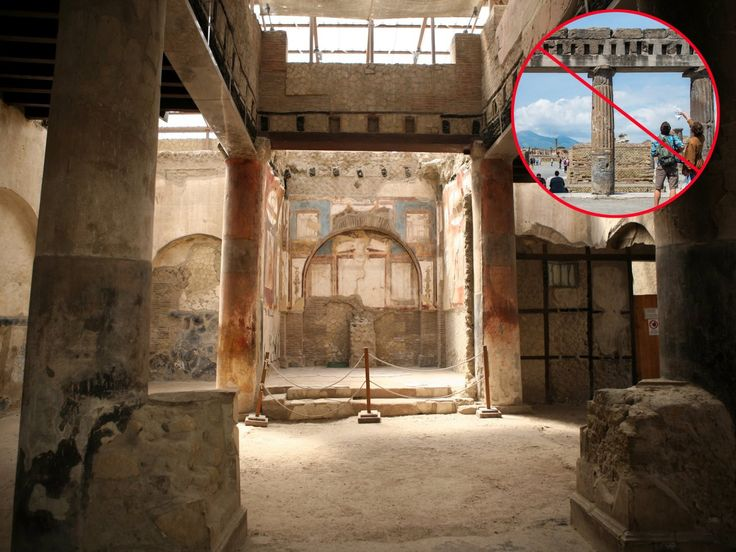 Instead of touring the ruins of Pompeii, visit the lesser-known ancient Roman city Herculaneum.
