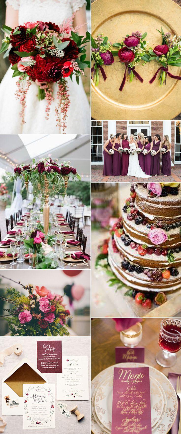 sensational berry wedding inspiration