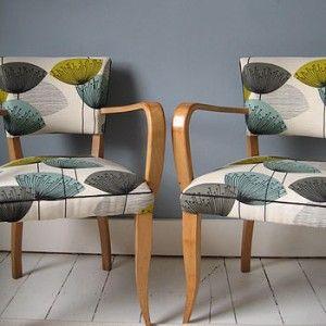 Vintage chairs, Pair of 1940's Bridge Chairs