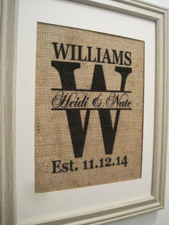 Burlap Wedding GiftBurlap WeddingBurlap by SunBeamSigns on Etsy, $21.00