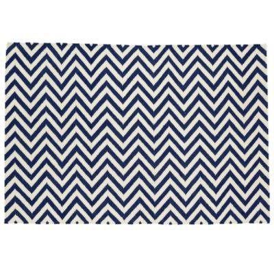 chevron rug: for nursery. Land of Nod. Would be cute with a dark navy blue accent wall