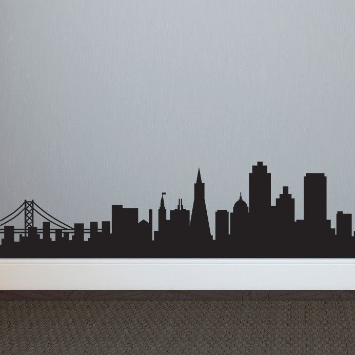 San Francisco Skyline Silhouette - Dana Decals - 1