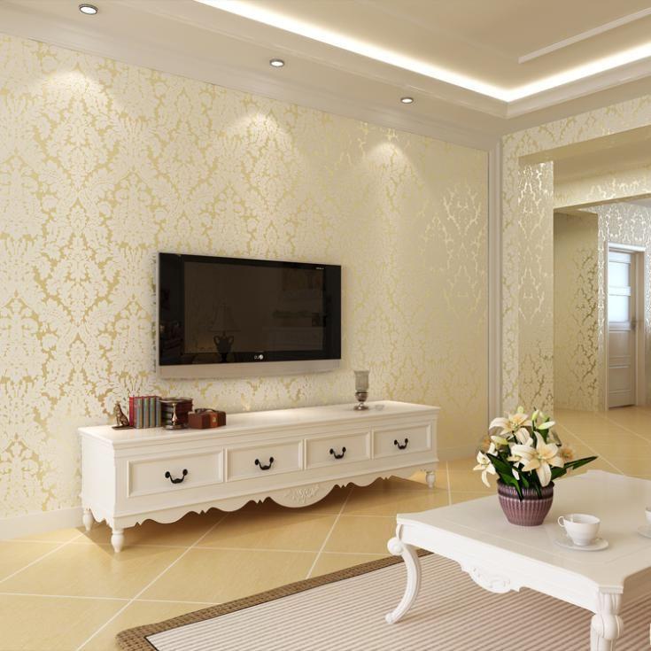 Tipo de Europa Damasco moderno Papel De Parede 3d Papel Pintado no tejido para el dormitorio tv papel tapiz de fondo papel de parede tapete(China (Mainland))
