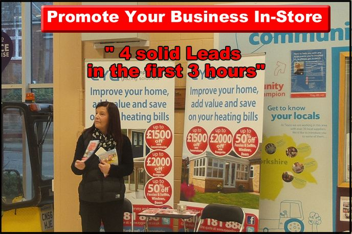 generate a constant stream of leads with an in-store promotion.