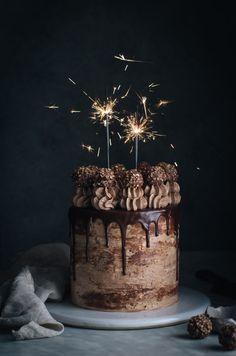 Nutella-stuffed chocolate-hazelnut cake