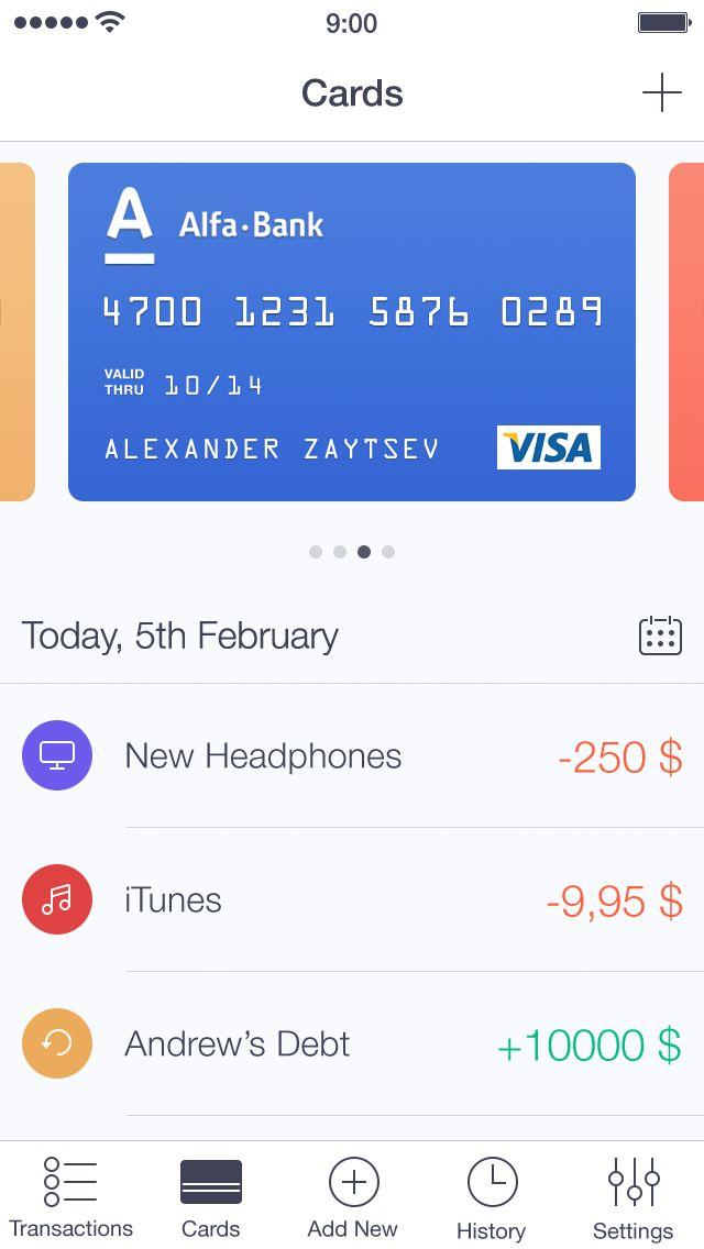 Walle Finance App [Light Version] by Alexander Zaytsev