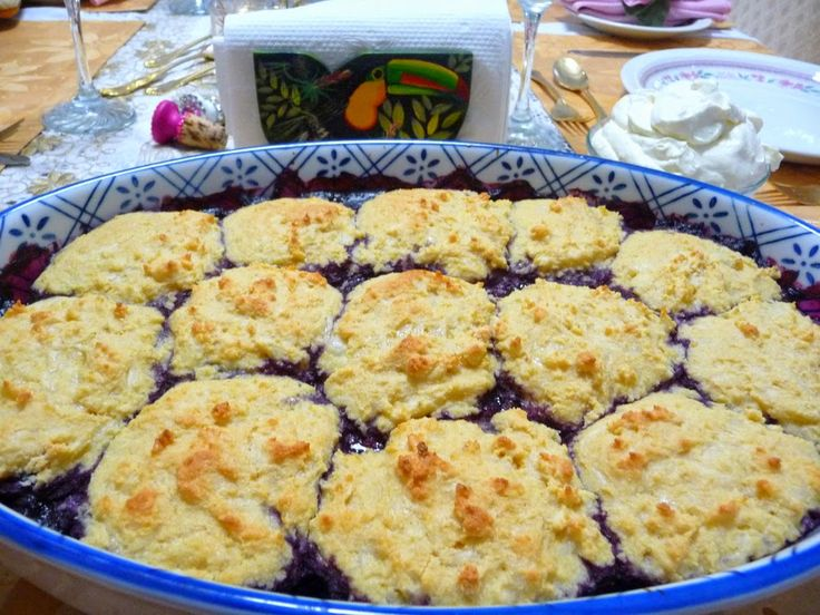 BUMBLEBERRY COBBLER   Normally fruit cobbler would be off limits for us as it is…