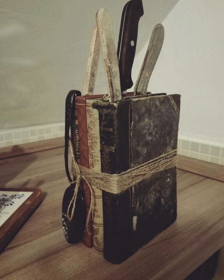 Books+Knives=Creative pairing