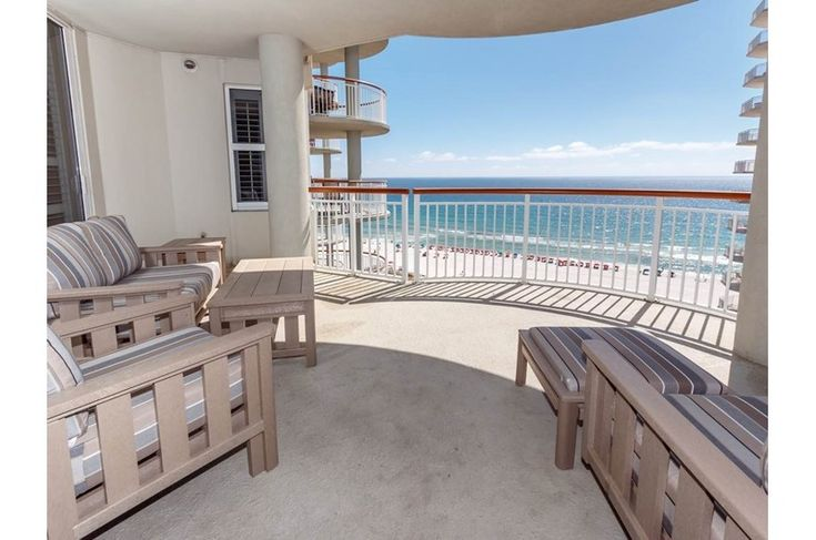 You Can See For Miles From This Expansive Gulf Front Balcony At Beach Colony Resort West Navarre Beach Beachfront Colonial