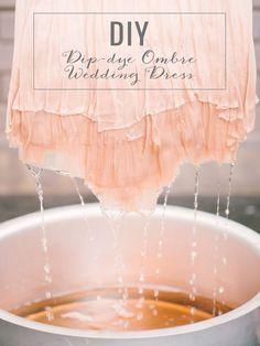 DIY Tutorial: How to revamp your wedding dress after the wedding // DIY Dip-Dye Ombre Wedding Dress
