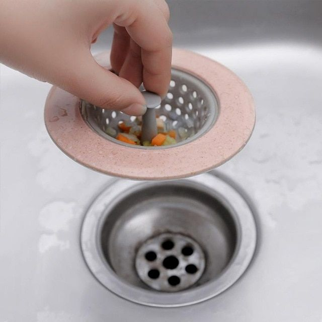 Silicone Drain Stopper Bathroom Sink Water Filter Hair Catcher