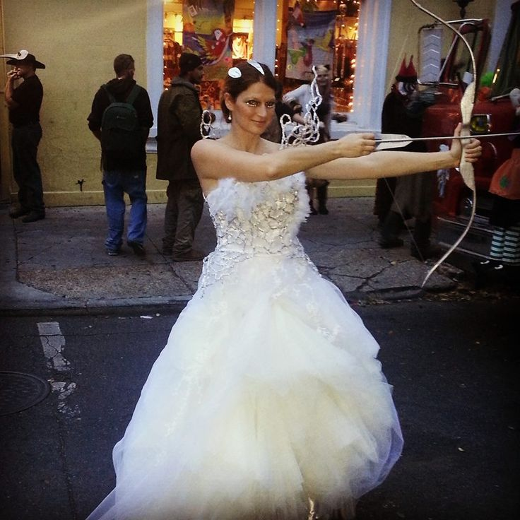 bow and arrow in hand kayla marie dixon takes center stage as katniss everdeen in - Primrose Everdeen Halloween Costume