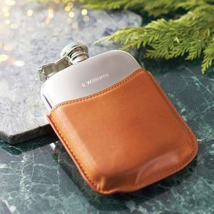 Mr Jones Personalised Hip Flask. Discover thoughtful, personal and wonderfully unique gifts for him this Christmas. You won't be short of ideas.