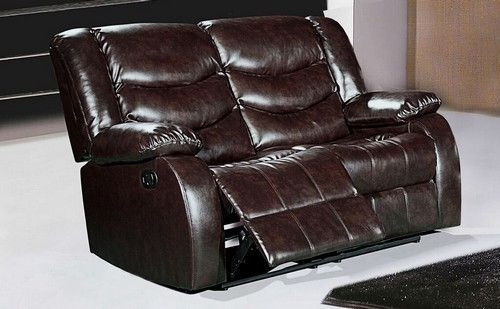 Gramercy Brown Leather Reclining Loveseat. Gramercy Brown Leather Reclining Loveseat