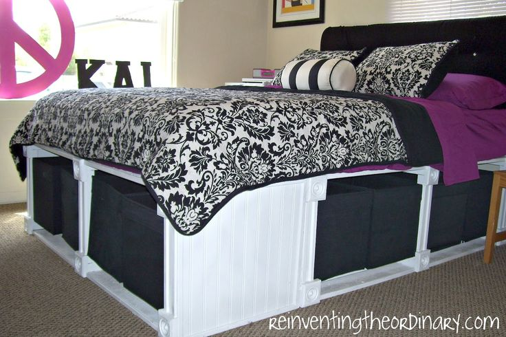 Reinventing the Ordinary: Pottery Barn Knockoff Bed with tons of storage! instead of paying 1000 dollars pay 100.Guest Room, Ideas, Diy Platform, Beds Frames, Platform Beds, Bedrooms, Beds Storage, Storage Beds, Pottery Barns