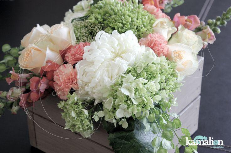www.kamalion.com.mx - Decoración / Rustic / Orange & Green / Naranja & Verde / Decor / Flores / Flower / Centerpiece / Centros de Mesa.